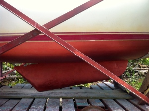 Catalina 25 Swing Keel, Partially Lowered