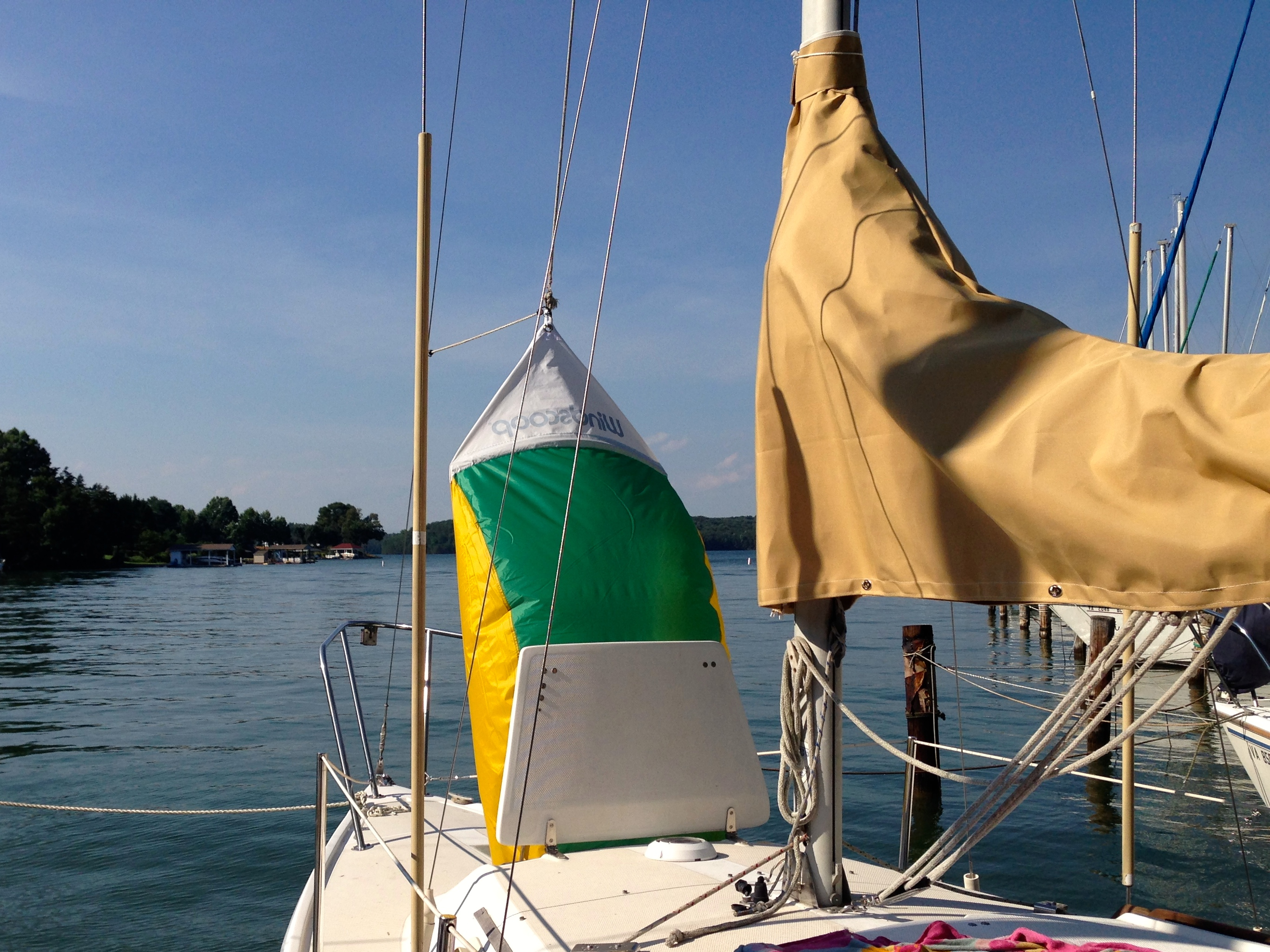 Catalina 25 Review Which Sailboat 27 Wiring Diagram A With Windscoop Mounted In V Berth Hatch