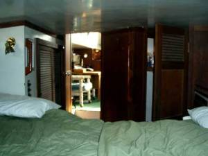 Columbia 45 Aft Cabin Looking Forward