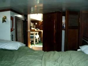 Columbia 45 Aft Cabin Looking Forward