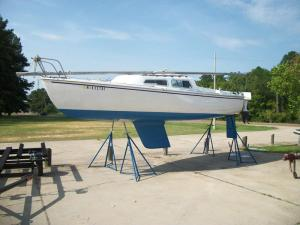 Catalina 22 Fin Keel, On Jack Stands For Maintenance