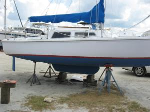 Catalina 22 Swing Keel Raised, Fixed Rudder
