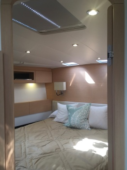 Jeanneau 57 Forward Owner's Stateroom, From Inside Head