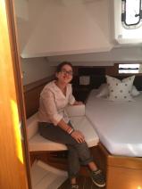 Jeanneau Sun Odyssey 44DS Owner's Cabin Aft, Starboard Settee