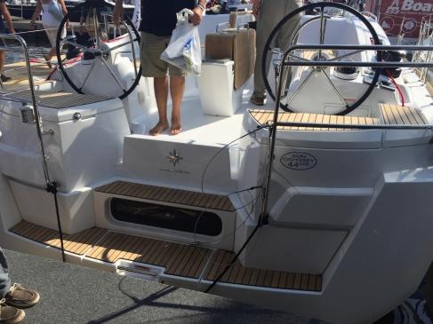 Jeanneau Sun Odyssey 44DS Aft Boarding Steps