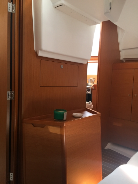Jeanneau Sun Odyssey 44DS Owner's Cabin Aft, View Forward from Bunk