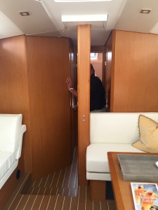 Jeanneau Sun Odyssey 44DS Main Salon, View Forward