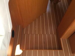 Jeanneau Sun Odyssey 44DS Main Salon, Step Down to Forward Passageway