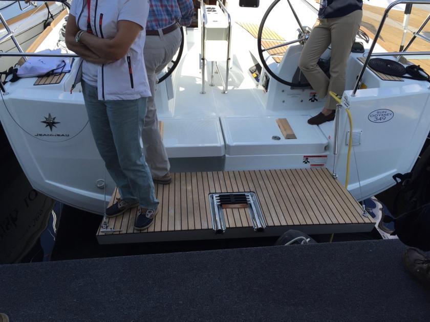Jeanneau Sun Odyssey 349 Swim Platform - Boarding Platform
