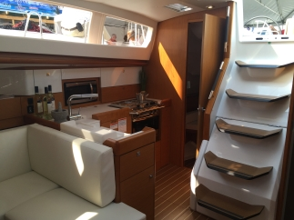 Jeanneau Sun Odyssey 44DS Galley to Starboard