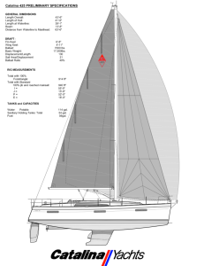 Catalina 425 Hull, Keel, and Rigging Profile