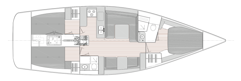 Catalina 425 Interior Layout